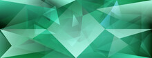 Abstract Crystal Background With Refracting Of Light And Highlights In Green Colors