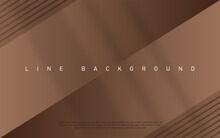 Golden Brown Luxury Background. Premium Diagonal Line Abstract Colorful Background With Dynamic Shadow.