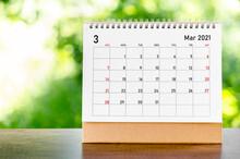 March 2021 Calendar.