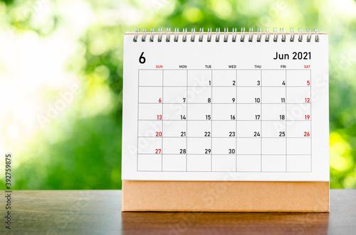 Obraz June 2021 Calendar. - fototapety do salonu