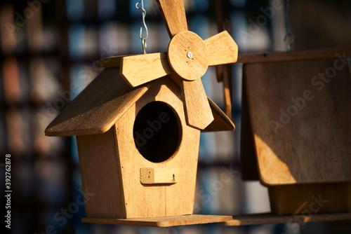 Stampa su Tela wooden birdhouse