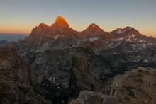 Sunset In The Teton Mountains