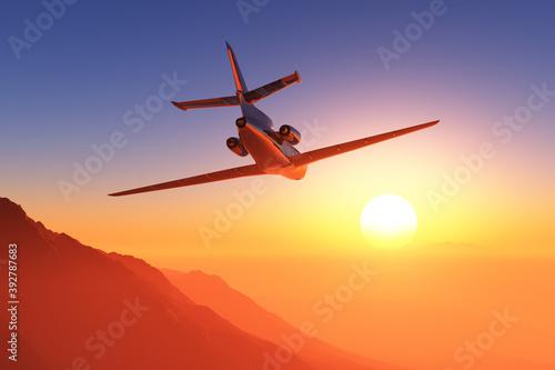 Fototapeta A passenger plane obraz
