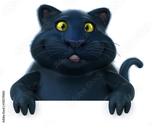 Black cat - 3D Illustration