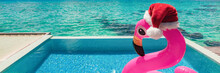 Christmas Pink Flamingo Swimmi...