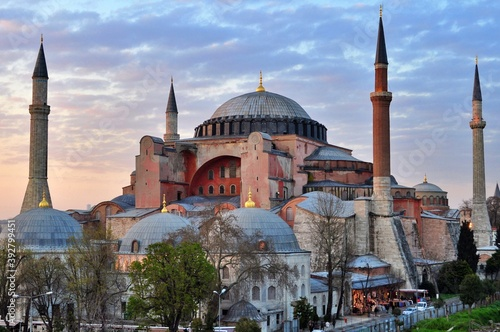 Canvastavla View of Hagia Sophia in Istanbul, Turkey.