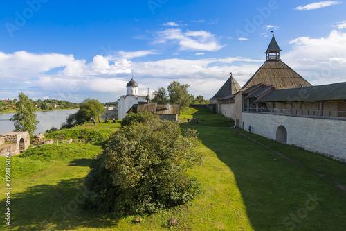 Obraz na plátne Ancient historical old Ladoga fortress in the village of Staraya Ladoga - Lening