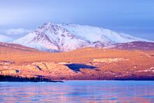 Snowy Mt Laurier Frozen Lake L...