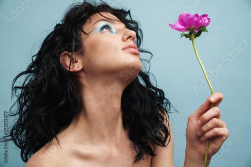 Obraz Close up of a beautiful young sensual woman - fototapety do salonu
