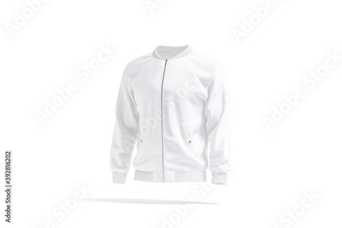 Fotografija Blank white bomber jacket mock up, side view
