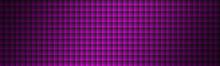 Modern Purple Squares With Shadows Header. Monochrome Violet Mosaic Banner.