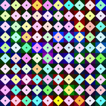 Geometric Astronira's Pattern With A Five-pointed Stars In A Rhombuses In The Op Art Style