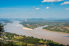 Aerial View, Landscape Of Mekong River