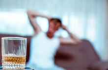 Upset Young Man Drinker Alcoho...
