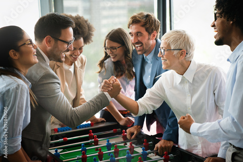 Business people having great time together Fototapet