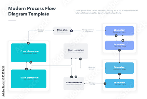 Fotografija Modern process flow diagram template