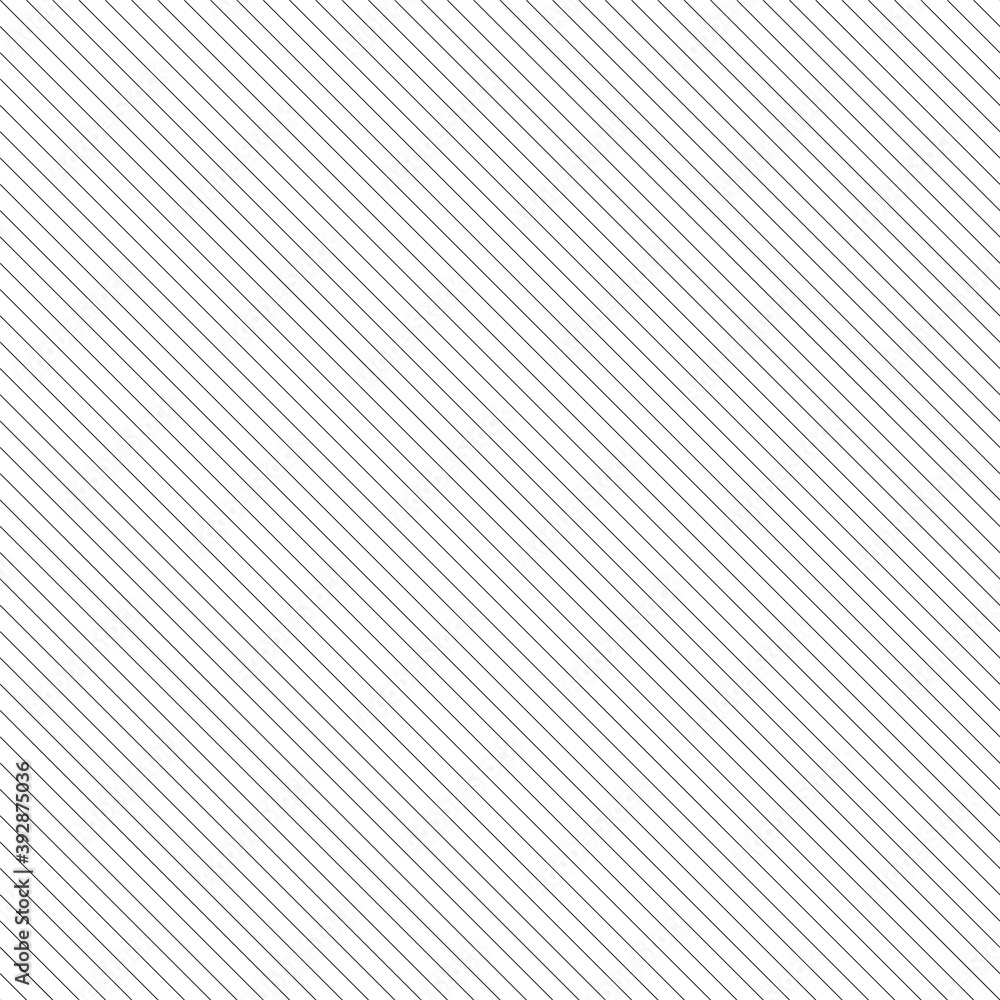 Fototapeta Vector diagonal lines pattern. Seamless striped background. Simple endless black and white texture