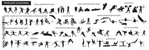 Tableau sur Toile Sports-silhouettes-catégories