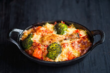 Rustic Cheesy Baked Rice Casse...