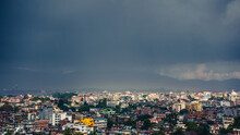 Dark Stormy Clouds Over Patan ...