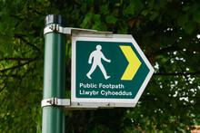 Bilingual Public Footpath Sign...