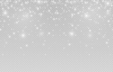 Vector Snow. Snow On An Isolated Transparent Background. Snowfall, Blizzard, Winter, Snowflakes. Christmas Image. Png.