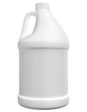 Realistic 3D Gallon Bottle Mock Up Template On White Background.3D Rendering,3D Illustration.Copy Space