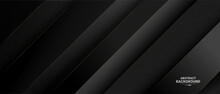 Elegant Dark Background With Golden Lines.