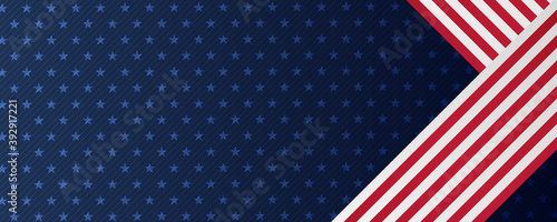 Fotografie, Obraz Independence day abstract background with elements of the american flag in red a
