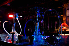Group Of Eastern Hookahs On Ta...