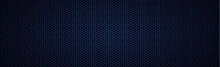 Panoramic Texture Of Blue And Black Carbon Fiber