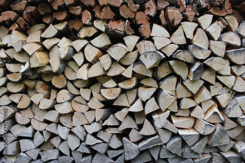 Fotografia Stacked firewood close-up