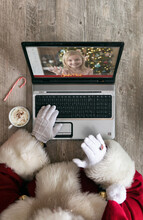 Santa Has Video Chat With Young Girl