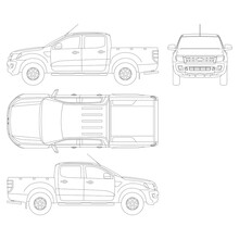 Pickup Truck Vector Template. ...