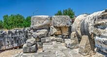 Broken Column In The Temple Of Apollo At Didyma, Turkey