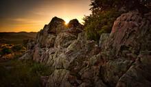 Rocks In The Mountain Landscap...