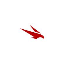 Logo Falcon Icon Templet Focus Integriti Loyal Vector