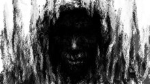 Hellish Demon Face In Hood Fro...