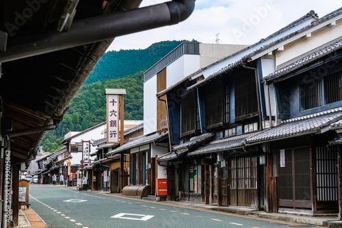 Obraz na plátně 岐阜県 美濃市 うだつの上がる町並み