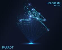 Parrot Hologram. Holographic P...