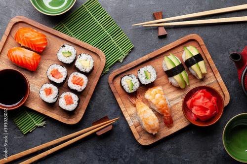 Japanese sushi set Fototapet