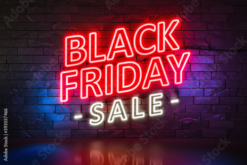 Black Friday Sale neon lights sign Canvas