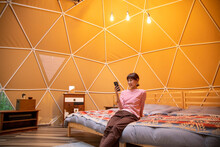Woman In The Glamping Dome