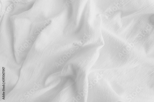 Photo White rippled cotton fabric texture background