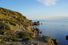 Mountain Sea Bay Panorama. Bea...