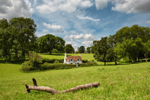 Landscape With Old English Cottage In The Chiltern Hills, England