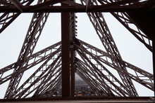 Eiffel Tower Detail Of Iron Co...