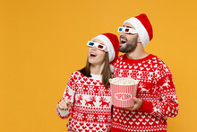 Excited Young Santa Couple Fri...