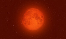"""Blood Moon With Lunar Eclipse  """"Elements Of This Image Furnished By NASA """""""