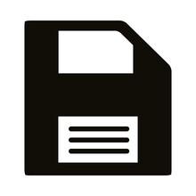 Floppy Disk Silhouette Style Icon